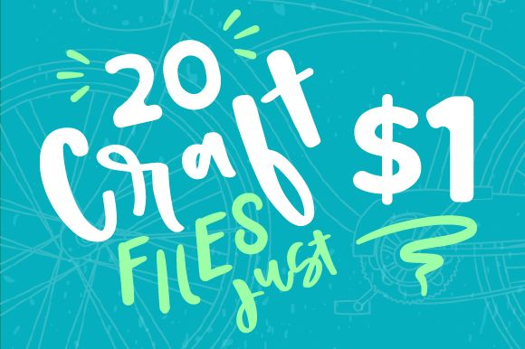 Discount Deals - Creative Fabrica  20 Dog Themed Craft Files. Each design comes in 4 formats: SVG / PNG / DXF & EPS.  Normally you pay $60 for all these files. Now you can get them for just $1