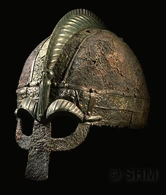 Viking Helmet from grave I at Vendel, Uppland, Sweden.