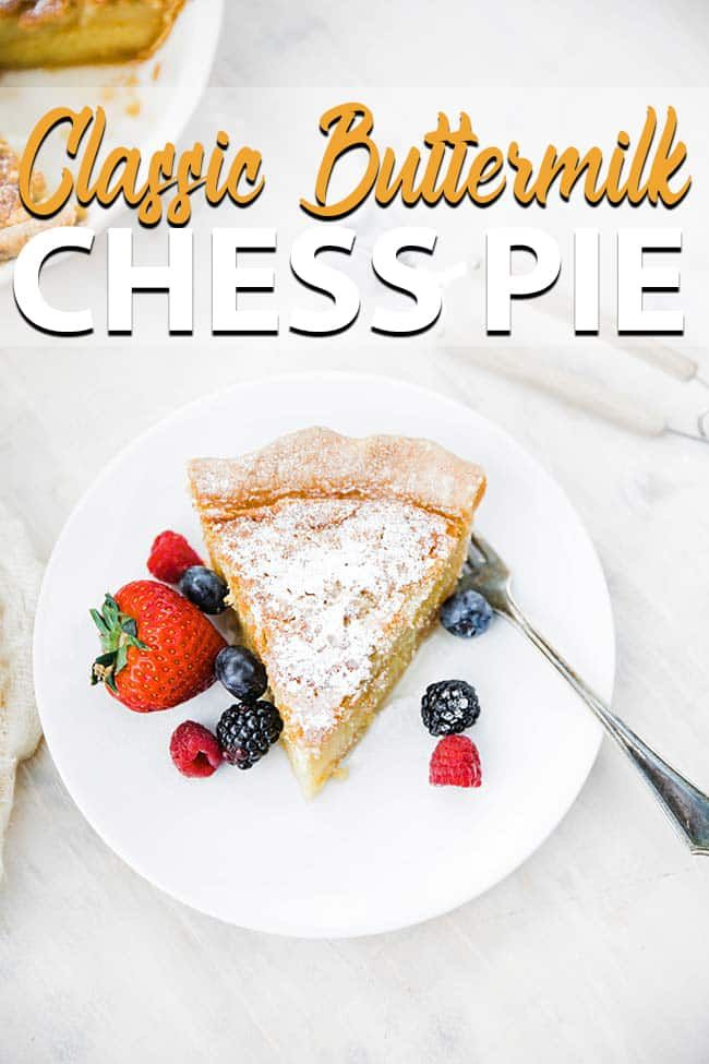 Homemade Buttermilk Chess Pie Recipe A Delicious Southern Classic Chess Pie But This One Is Twice As Thick Homemade Buttermilk Chess Pie Recipe Pie Recipes