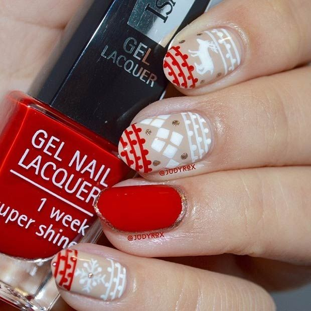 Holiday Sweater Manicure