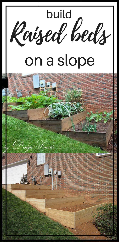 raised beds, diy raised beds, raised beds on a slope, vegetable garden, building project, diyDesignFanatic.com