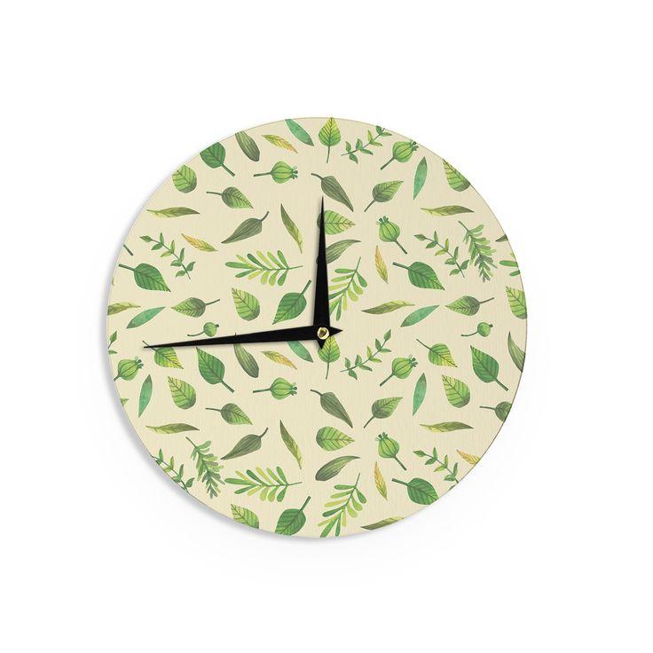 Kess InHouse Kess Original 'I Be-Leaf In You' Beige Wall Clock