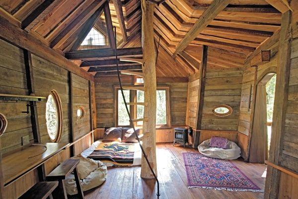 Awesome treehouse interior
