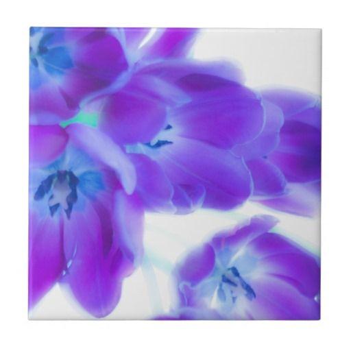 Bunte, girly, romantische, lila Tulpen