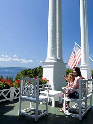 A favorite porch spot, Mackinac Isl, MI