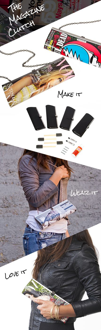 """DIY """"make a clutch bag"""" kit from #Darbysmart How much fun would this be???"""