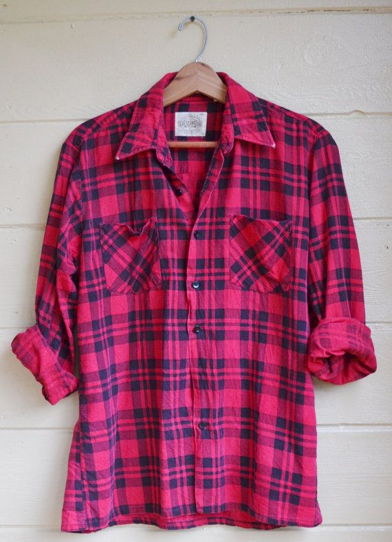 pink flannel shirt- let's give it up for pink flannel shirts!