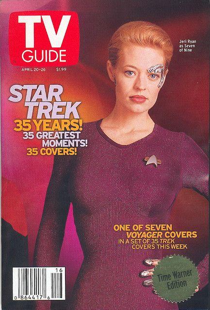 "April 20, 2002. Jeri Ryan of UPN's ""Star Trek: Voyager."""