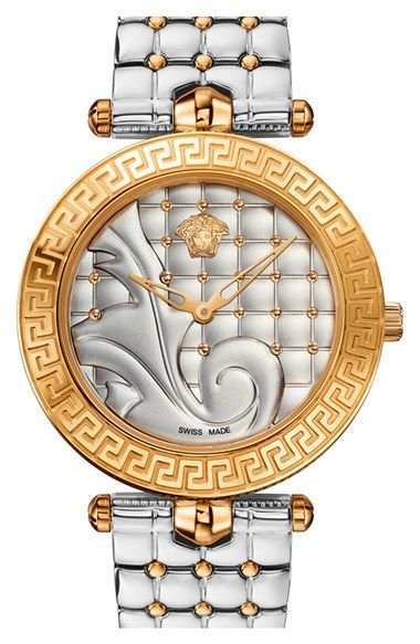 Versace 'Vanitas' Quilted Bracelet Watch, 40mm (Regular Retail Price: $1,995.00) available at #Nordstrom