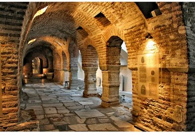 Catacombs under Saint Demetrios Church, the Patron Saint of Thessaloniki. Built in the 4th century, the church is the largest basilica in Greece