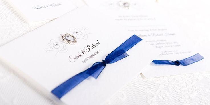 Grace Handmade Wedding Invitation Design - illustration and ribbon