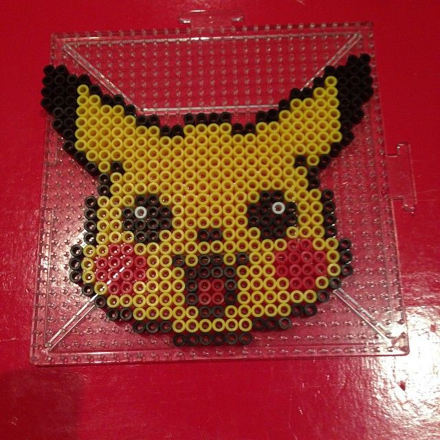 Pikachu Pokemon perler beads by scarletsparkle