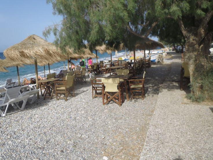 a beach view