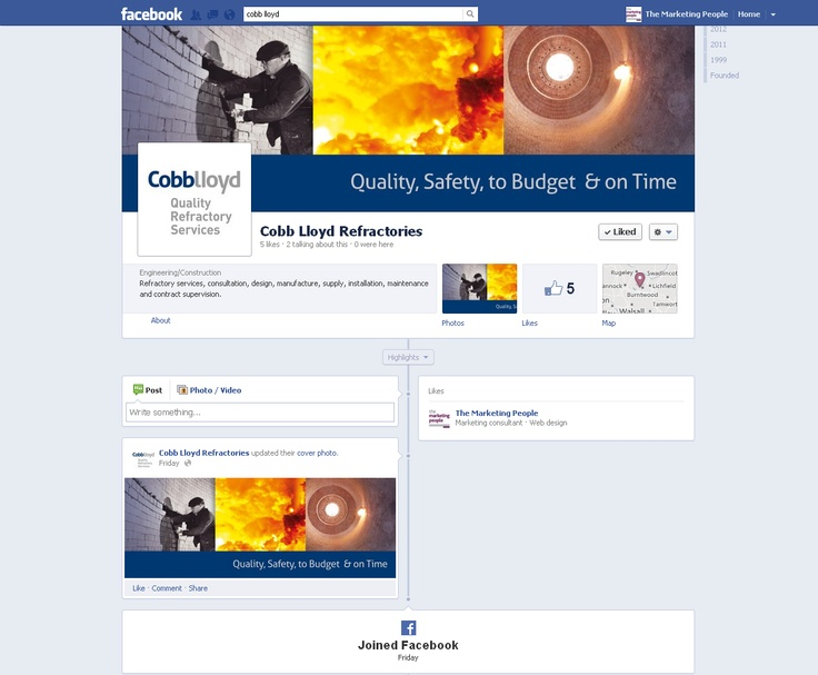 To coincide with the launch of their new brand and website, we have designed and set up Cobb Lloyd's Twitter, Facebook and LinkedIn pages.