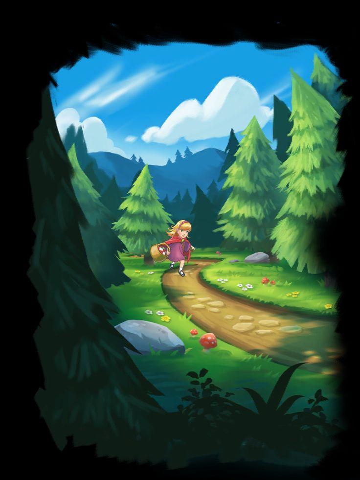 Forest Home | Cut Scene| UI, HUD, User Interface, Game Art, GUI, iOS, Apps, Games, Grahic Desgin, Puzzle Game, Maze Games, Brain Games | www.girlvsgui.com