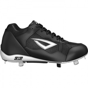Mens 3N2 Pro Metal Baseball Cleats Black Leather - ONLY $49.95