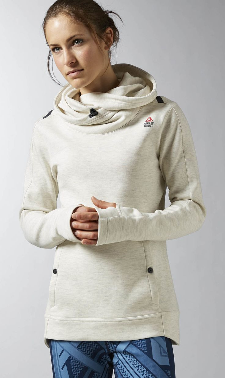 Reebok CrossFit Hoodie Women's Training in Chalk
