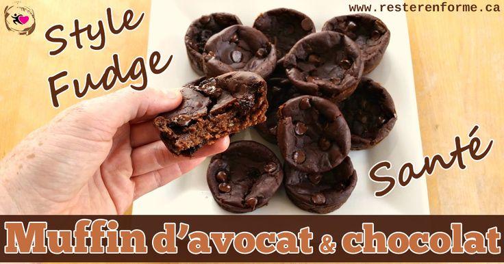 Muffin santé aux avocat et chocolat style fudge - Rester en forme avec Sandra - Beachbody francais