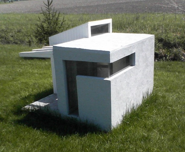 Cinder block dog house plans for Modern dog house designs