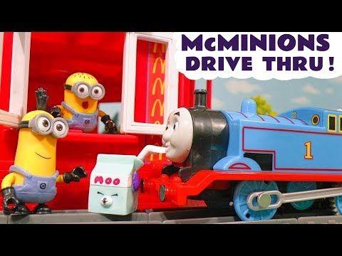 Thomas The Tank Engine Minions McDonalds Drive Thru Trouble Shopkins Food - Toys for kids TT4U - YouTube