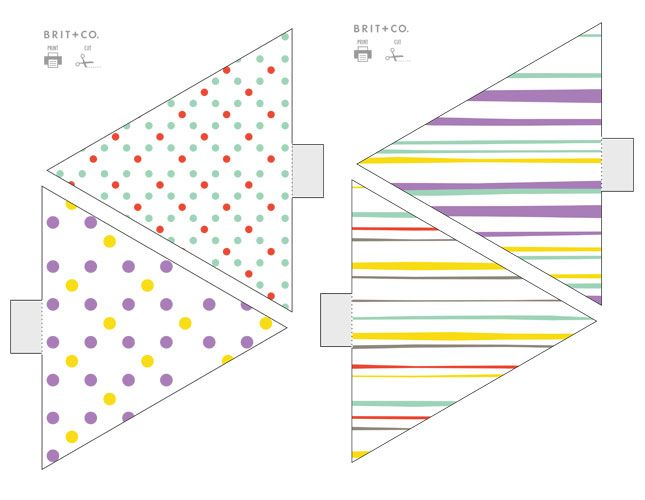 How cute are these polka dot and stripe templates?
