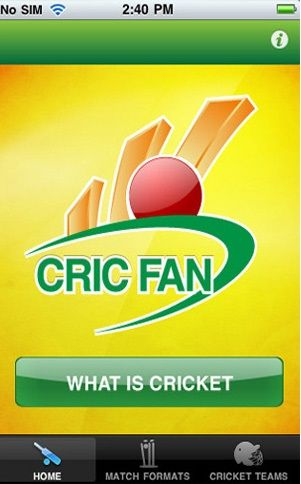 CricFan is an informational app which provides valuable insight to the enthusiasts who are keen to learn about the wonderful game of Cricket.