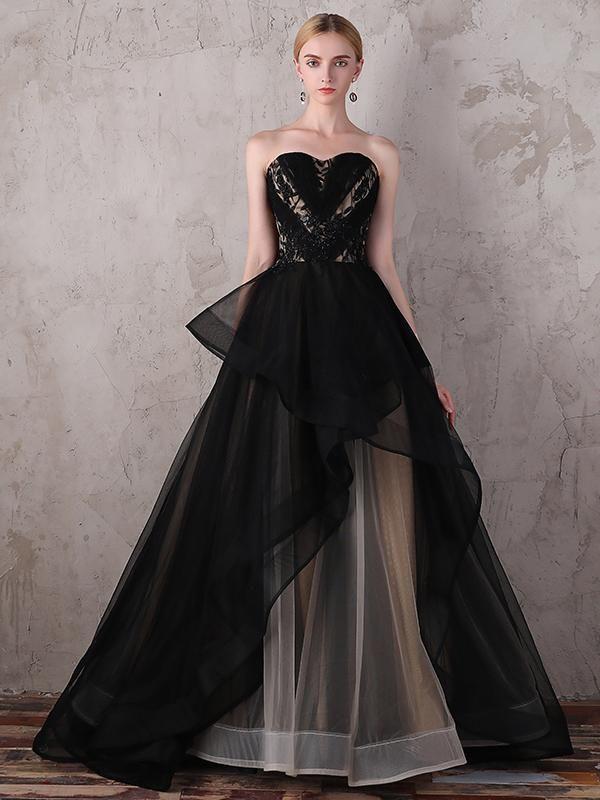 fd5c0fb08e3 Silhouette Ball Gown Neckline Sweetheart Hemline Train Sweep Brush Train  Sleeve Length Sleeveless Embellishment Appliques