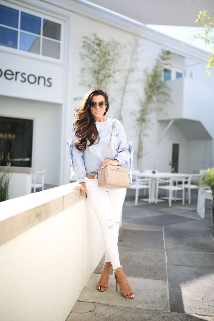 emily gemma, the sweetest thing blog, cute fall outfit pinterest, bow sleeved top, nude chanel bowling bag, white J brand jeans, summer fashion 2017, louis vuitton trunk iPhone case, chloe sunglasses, #bowlingoutfit