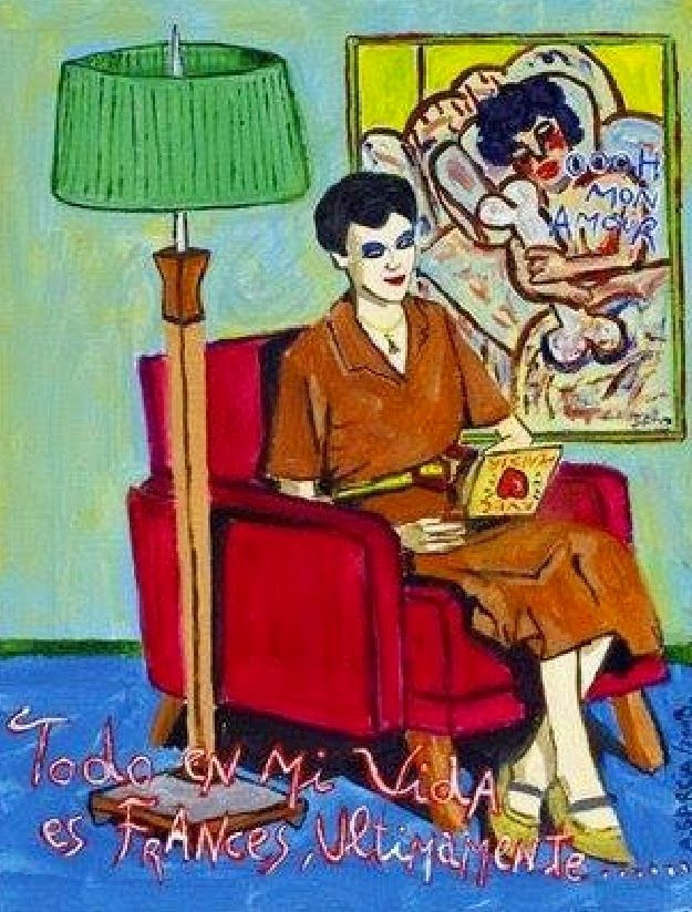 """******************* Bad Painting ****************: """"Todo en mi vida es francés últimamente"""" A.Garcia"""