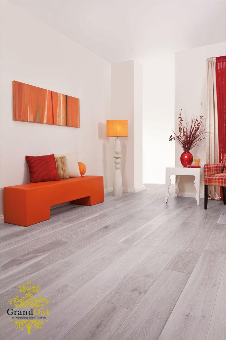 Grand Oak Timber Flooring: Mink Grey House Show