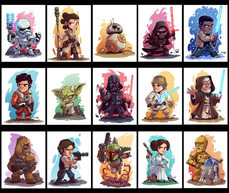 Chibi Star Wars characters by Derek Laufman : StarWars