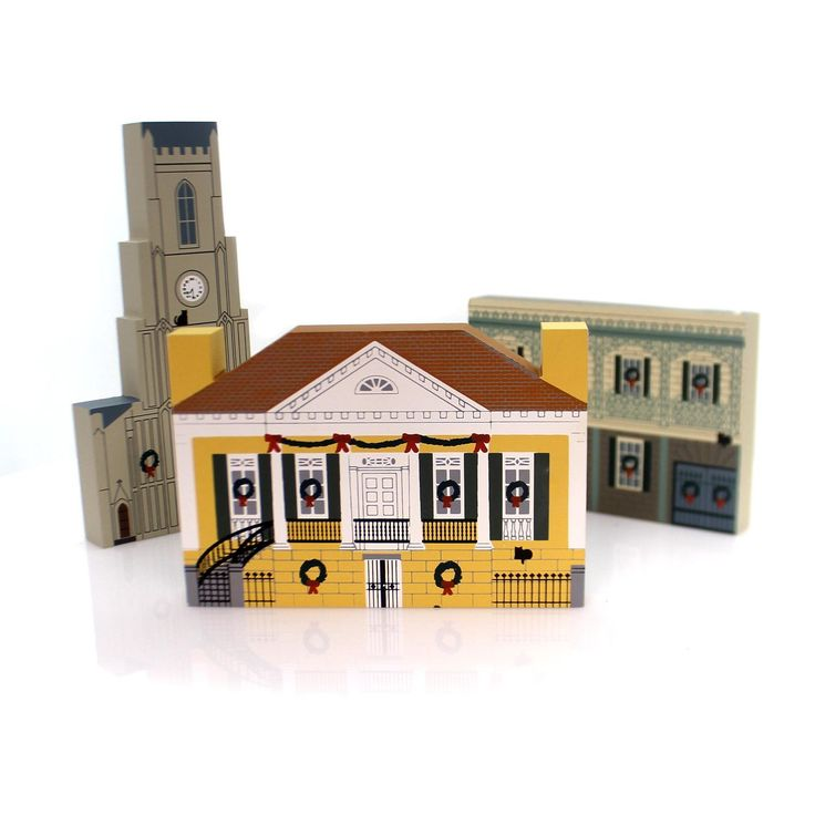 Cats Meow Village New Orleans Christmas Set / 3 Keepsake
