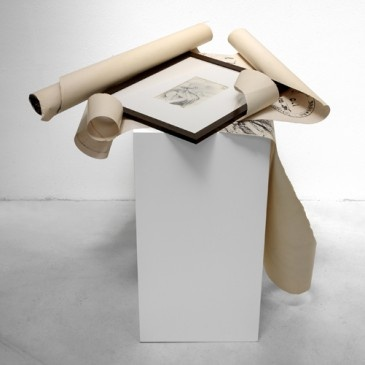 Giulio Paolini// GRANDEZZA NATURALE, 1986/1987, 82 x 50 x 40 cm., mix media, In collaboration with Studio La Citta