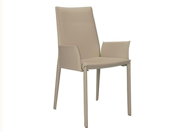Stuhl aus Leder mit Armlehnen mit hoher Rückenlehne D26 Kollektion Stühle by Hülsta-Werke Hüls