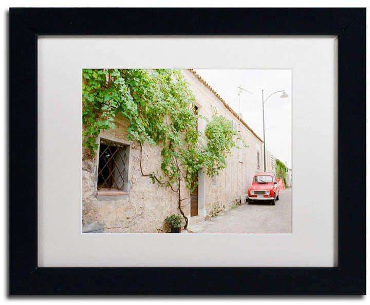 """Ariane Moshayedi """"Red Car"""" verfilzte gerahmte Kunst – 11 x 14"""