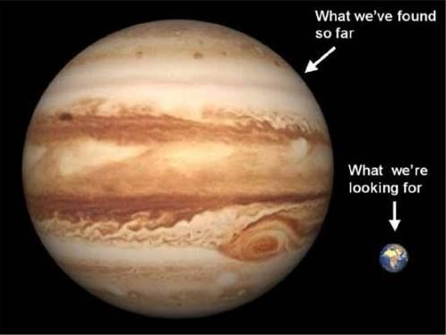 Jupiter compared to Earth. Image credit: NASA