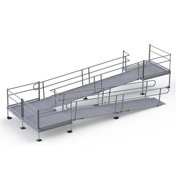Get the guaranteed lowest price on EZ-Access Pathway modular wheelchair ramps. These modular, all-aluminum ramp kits are for home and commercial use. ADA compliant.