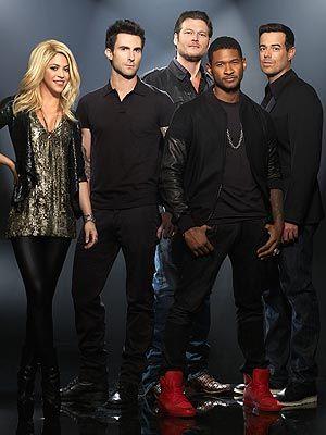 The Voice: 2013 Shakira, Blake Shelton, Adam Levine, Usher