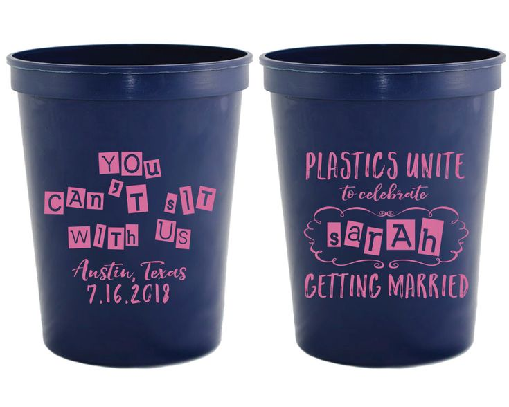 New to SipHipHooray on Etsy: Mean Girls Bachelorette Cups Bachelorette Party Cups Plastics Unite Bachelorette You Can't Sit With Us Cups Bachelorette Favors 1359 (75.00 USD)