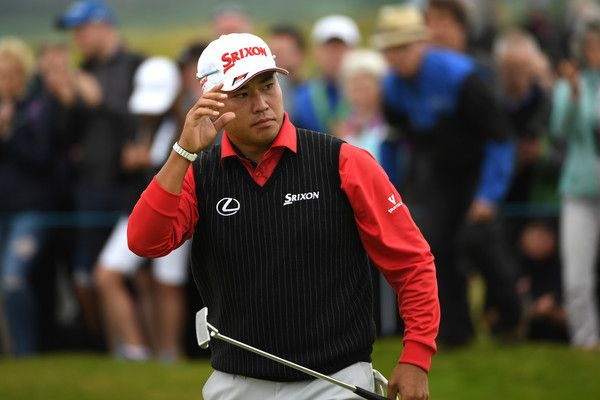 Hideki Matsuyama Photos Photos - Hideki Matsuyama of Japan reacts to a birdie on the 18th green during day one of the Dubai Duty Free Irish Open at Portstewart Golf Club on July 6, 2017 in Londonderry, Northern Ireland. - Dubai Duty Free Irish Open - Day One