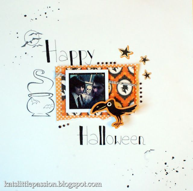 #scrapbooking #halloween #layout http://katslittlepassion.blogspot.com/2013/08/halloween.html