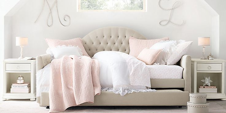 RH Baby & Child's Girl Bedroom Collections:Shop for kids beds and trundles from Restoration Hardware Baby & Child.  Our beds are handcrafted of hardwoods for lasting durability.