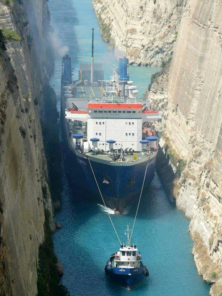 Corinth Canal - Greece.