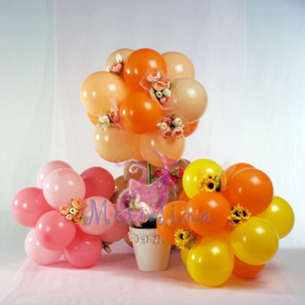Best balloon wedding images on pinterest centerpieces