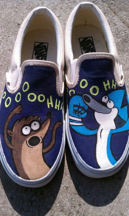 "Regular show Vans!!!! In my best Rigby impression I can muster, ""It just got double gooder.""  #SonGokuKakarot"