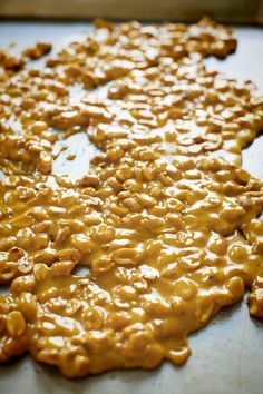 Peanut Brittle - this is the best, easiest recipe for peanut brittle. Delicious! I have now made several batches and have had success every time. I like to add 30 seconds to 1 minute to the 2nd stage of cooking to caramelize the sugar even more. But watch out, the line between dark brown and burnt is a matter of seconds. Microwaves vary greatly. I've made it with mixed nuts (watch cashews carefully as they tend to burn easily) too.