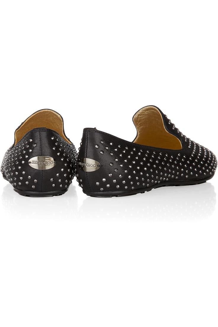 Jimmy Choo | Wheel studded leather loafers | NET-A-PORTER.COM
