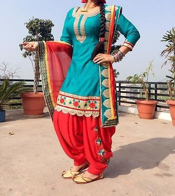 Ethnic Bollywood designer Punjabi Patiala Party wear Indian Salwar Kameez suit