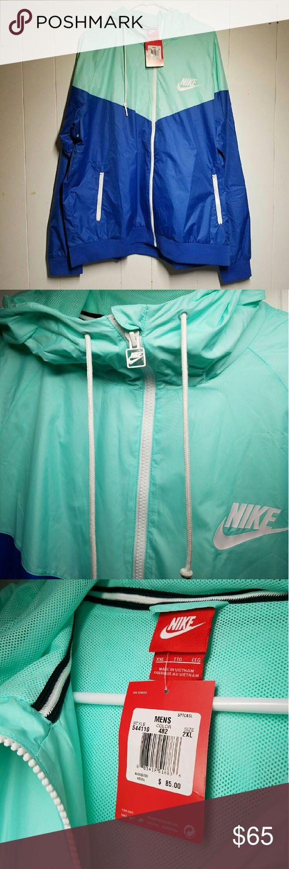 Nike Windrunner Jacket Blue + Teal Nike Windrunner Jacket Blue + Teal  -Brand new, never worn -comfortable fit Nike Jackets & Coats Windbreakers