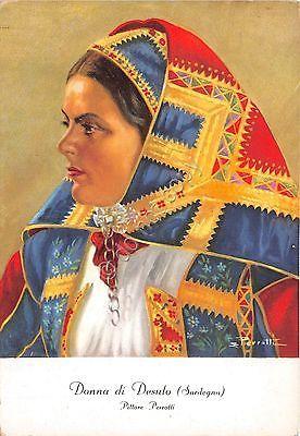 Cartolina - Illustrata - Pezzotti - Costumi Sardi - Desulo - Donna- Carta Opaca